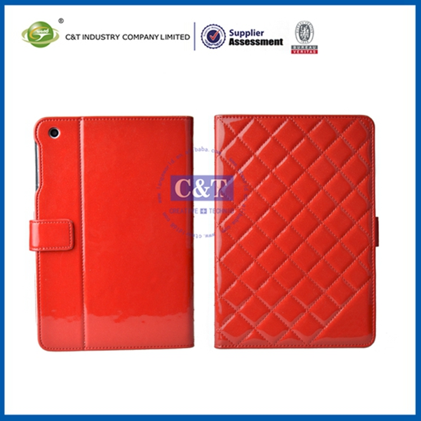 Hot sale sublimation for ipad mini 3 folder stand leather case