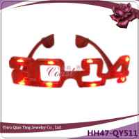crazy red 2014 led new year party wear funny eye glasses