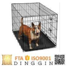 Cast metal wire mesh dog cage