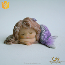 OEM Accepted Craft Sculpture Ornaments Gift Resin Mermaid Figurine Souvenirs Decoration Little Mermaid Statues Sale
