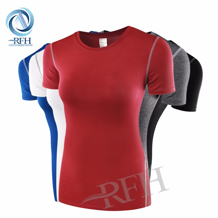 OEM custom china factory printing cheap dri fit shirts wholesale compression clothing for women