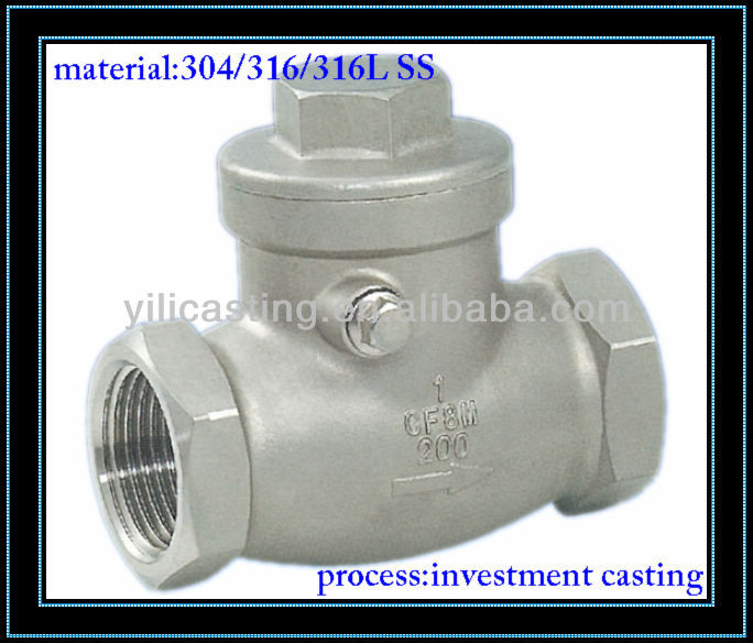 Swing check valve part stainless steel casting lost wax casting OEM casting product