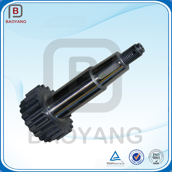 China manufacturing multiple sizes steel material electric motor gear shaft