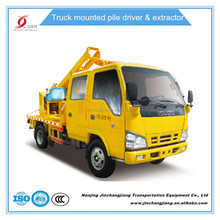 2017 NJJ5075TQX Hydraulic guardrail pile post driver truck with heavy hammer for steel post installation efficiency