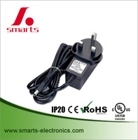 CE rohs Certified 240v ac 50hz adapter 24v 0.75a 18w power adapter with UK plug