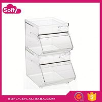 Acrylic Food Containers, Plastic Box For Candy, Acrylic Stackable Candy Bin
