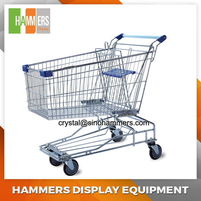 Metal Wire Supermarket Shopping Cart/Supermarket Shopping Trolley