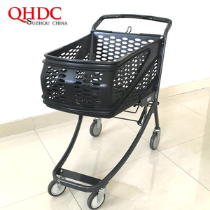 QHDC plastic trolley shopping cart grocery