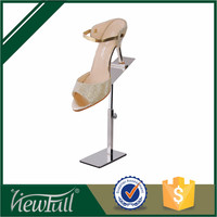 well design customized steel shoe store display racks in stock