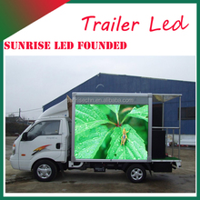 2016 P10 Outdoor Full Color RGB 1/2/3 sides Commercial Advertising Mobile Led Display Truck
