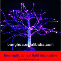 fiber optic bonsai light decoration