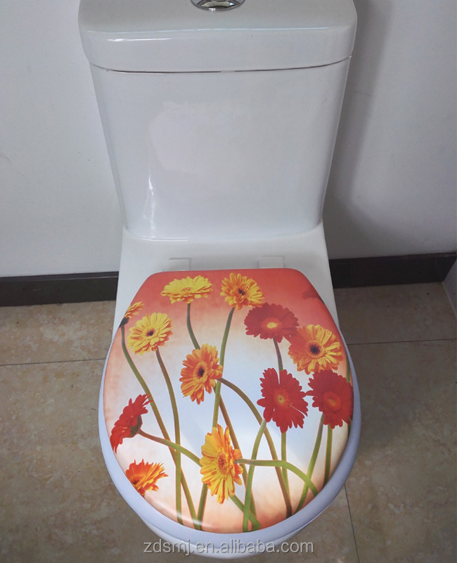 2016 hot sell Europea standard embroidered toilet seat