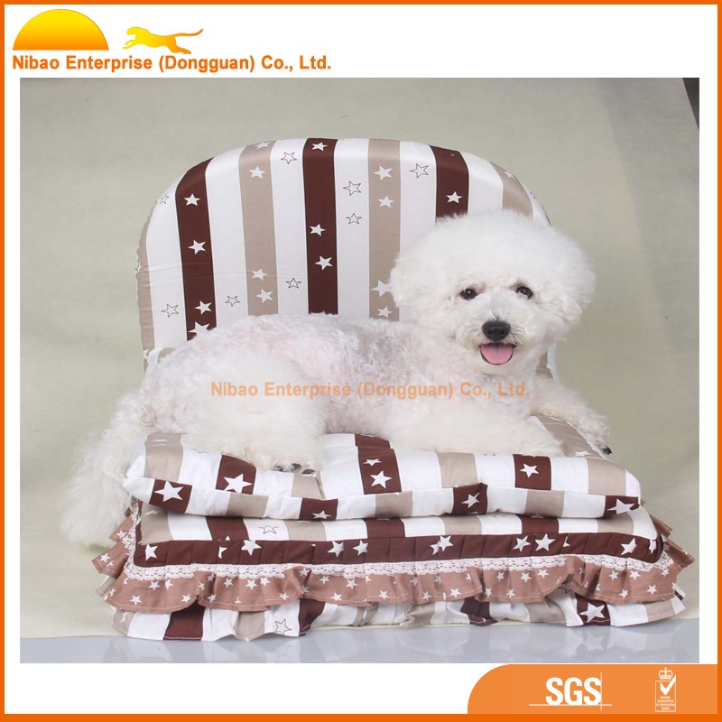 2016 luxury wooden pet dog bed wholesale