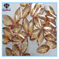 champagne leaf shaped synthetic cubic zirconia stone