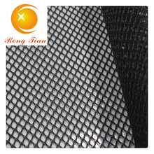 Manufactory black polyester stiff diamond mesh fabric for materials shoes