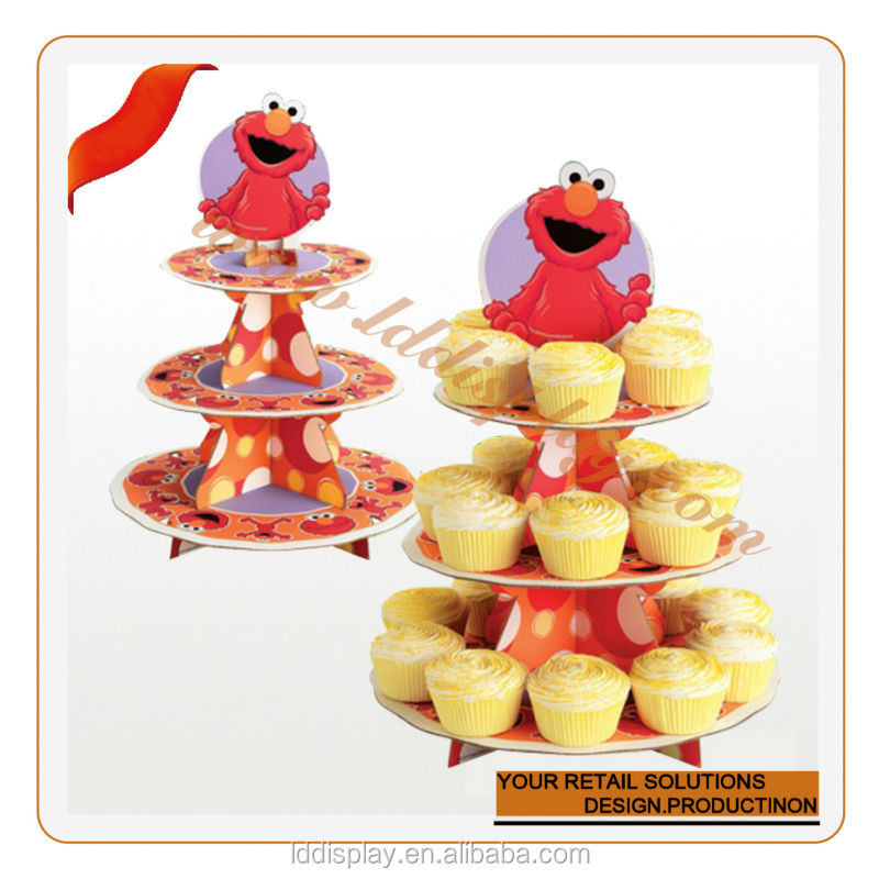 advertising cardboard cupcake display stand for promotion