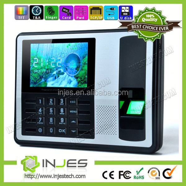 INJES Biometric fingerprint punch card RFID time recording machine employees attendance management software free SDK