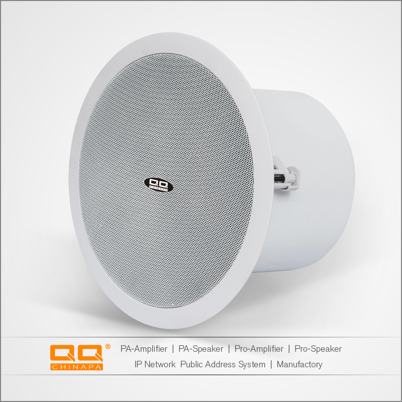 oem odm good price pa system 5 inch coxial passive ceiling speaker with back cover