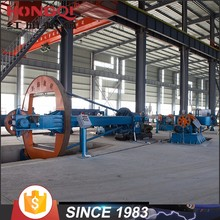 50m / min Drum type electrical cable manufacturing machine for laying up / armoring process