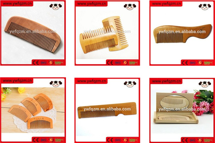 Wholesale sandalwood hair v comb