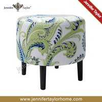 american fabric knitted round ottoman