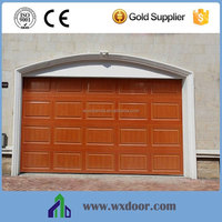 Wood Grain Panel Canopy Garage Door