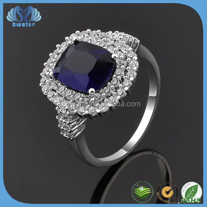 Customized Design Batu Permata Blue Safir 0086 Ring
