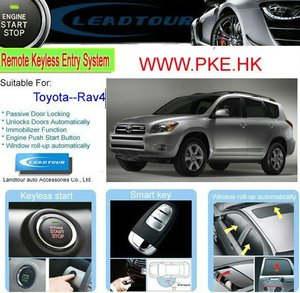 Anti-hijacking Car Alarm System with RFID Keyless Entry Remote Engine Start for Toyota RAV4