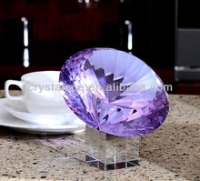Shop decoration big size crystal decoration piece, glass decorating stones
