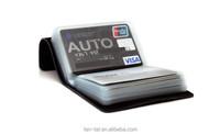 Men's Black Veg Tanned Leather Card Wallet Holder