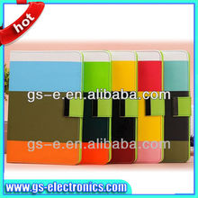Three Color Leather Case For iPad air 5 iPad mini with credit card slots