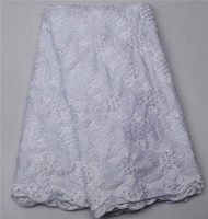 Elegant dresses nigerian aso ebi laces latest high quality embroidery swiss lace fabric cotton african voile XZ28448b