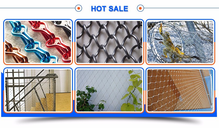 Hand Woven Metal Stainless Steel x-Tend Balustrade Wire Rope Mesh Netting