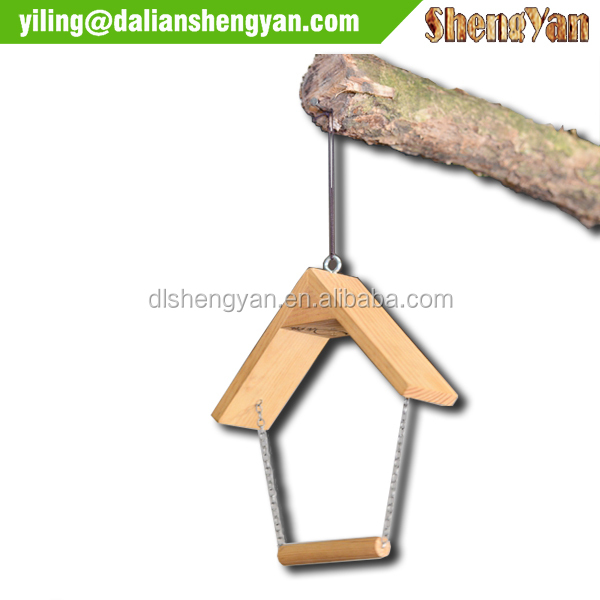 Wooden Hanging Bird Toy Swing