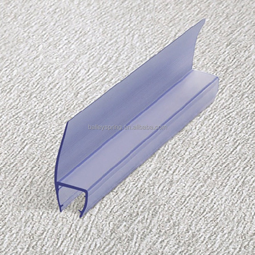 Manufacture Clear Transparent Shower Door Plastic Seal Strip B003