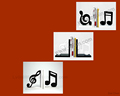 Music notation wooden book stand