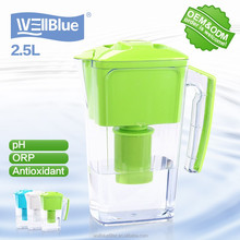 High quality Portable low ORP water filter pitcher with CE RoHS FDA