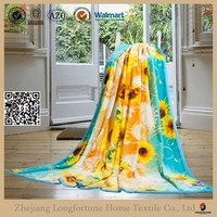 polyester Rayon Spandex fabric flannel fleece blanket alibaba china