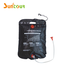Portable Camp Shower Bag 5 Gallon/20 Litter Camping Hiking Light Weight Solar Heated with On/ Off Nozzle
