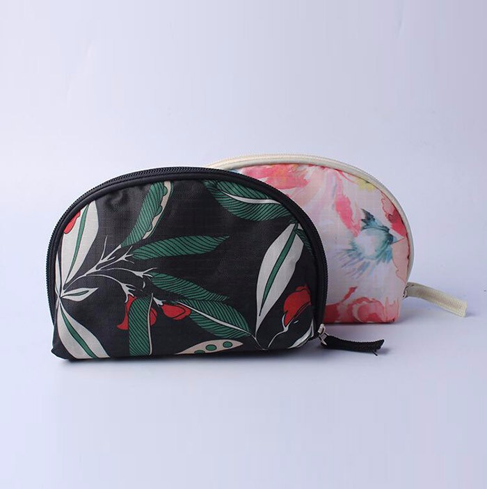 fashional Nylon Promotional cosmetic bag With Full Printed