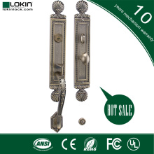 door lock cover plate decorative with zinc alloy handle for lockset with mortise gate entrance locks
