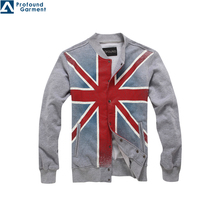 Latest! OEM Cracking Printing button up fleece jacket/clothes for mens