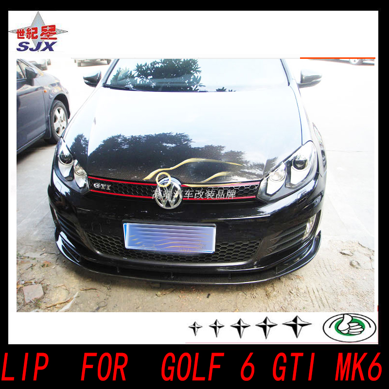 Car carbon bumper lip R20 front bumper carbon fiber lip for VW GOLF 6 golf 4 gti style