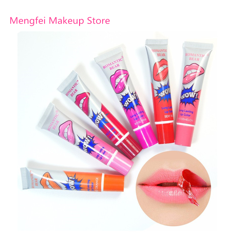 New Brand Easy Peel Off Long Lasting Lip Gloss Mask Waterproof Makeup Tattoo Matte Tint Lip Gloss Lipstick Women Balm Cosmetic