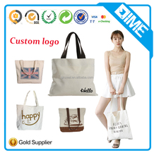 Wholesale Digital Printed Cotton Tote Bag Canvas Bag Shopping Custom Cotton Bag