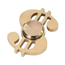 Cool Stress Relief Spinning Toy US Dollar Musical Note Wind Metal Fidget Hand Spinner