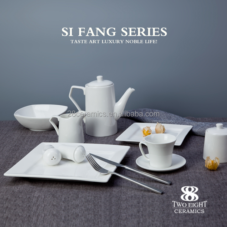 wholesale hotel crockery set , porcelain dinner table set for banquet