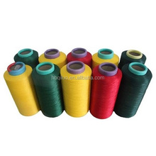 Low Price in India Market Label Sticker On Cone Wholesale Dope Dyed Twist 1110D High Tenacity Polyester Yarn