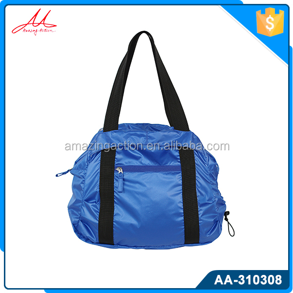 Hot selling cheap lightweight durable 50d nylon folding shopping bag