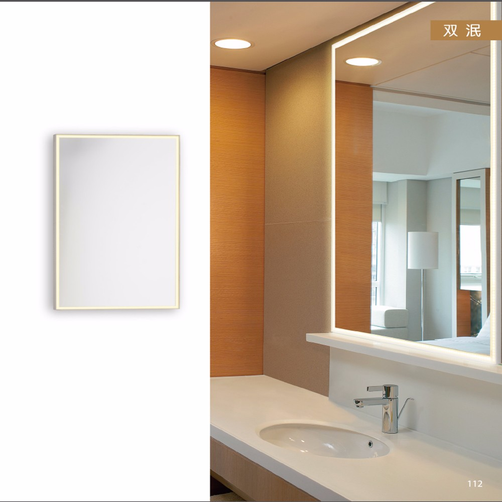Contemporary Type and chrome+white Color indoor mirror with lights OZ-AL742